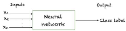 A neural network approximates an underlying function that maps inputs to outputs
