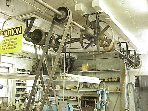 Line Shaft in the Mt. Wilson Observatory Machine Shop