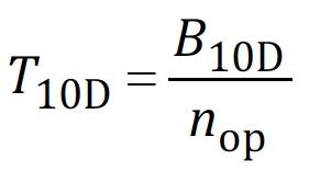 Calculating T10D using ISO 13849-1 Eqn. C.3