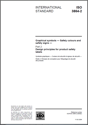 Image of the cover of ISO 3864-2 standard