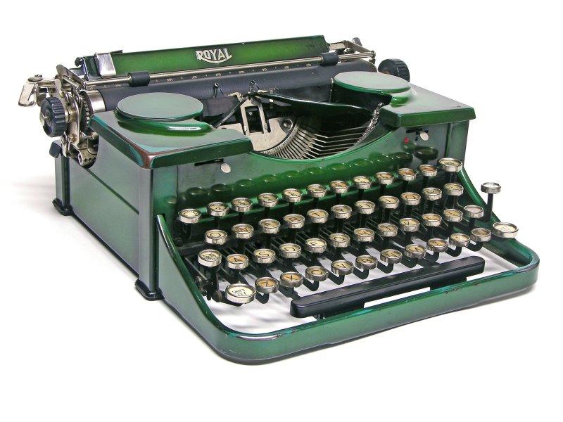 royal typewriter, green
