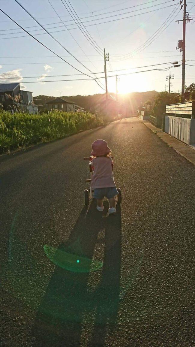 夕方、娘と散歩しました(東舘 男性)