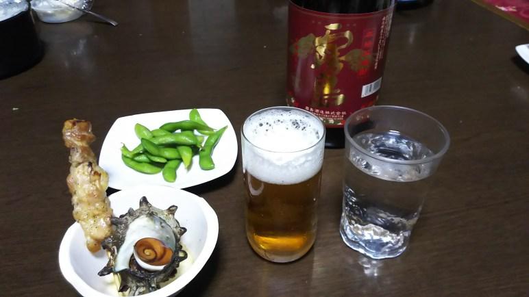 お祭り気分 サザエのつぼ焼き美味しかった✨(高野谷地・女性)