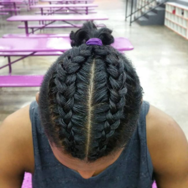50 Brilliant Braided Buns For Men Double The Style 2019
