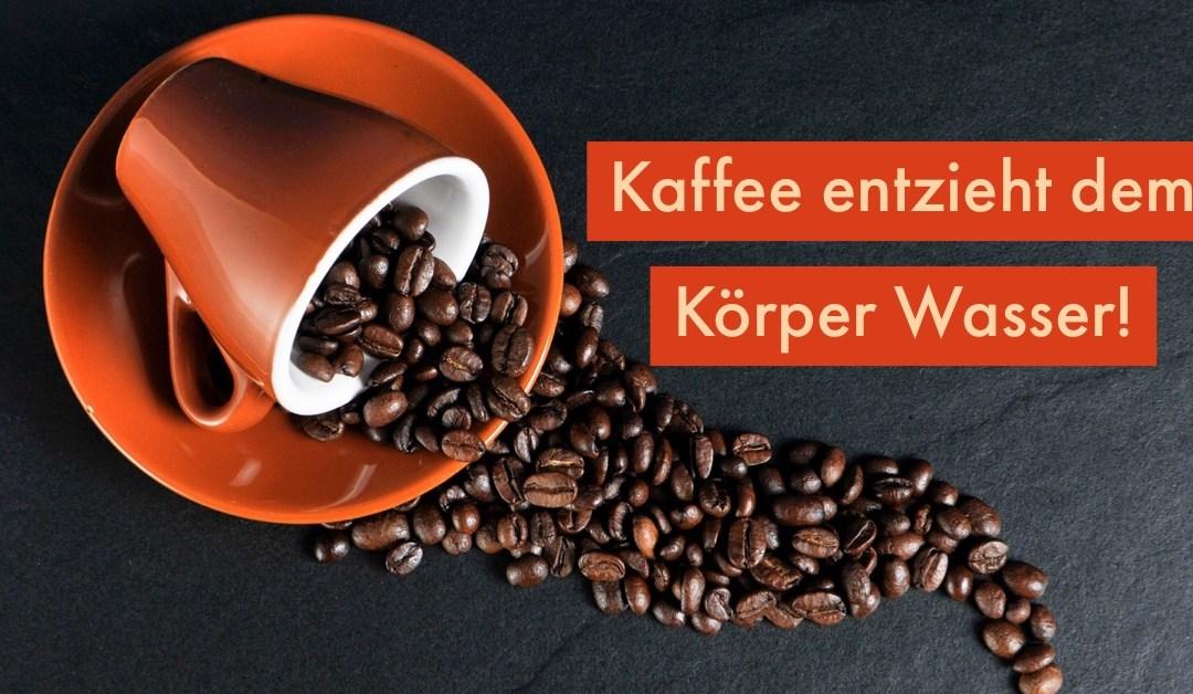 Ernährungsmythen: Kaffee entzieht dem Körper Wasser