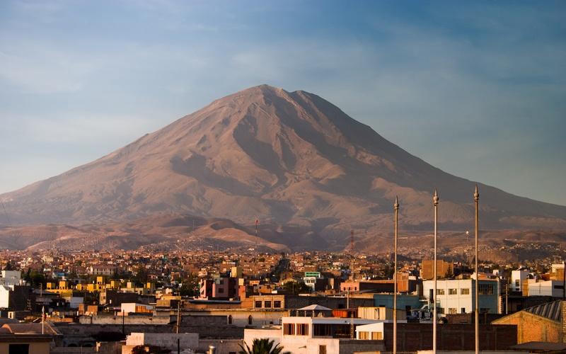 A bela Arequipa, no Peru