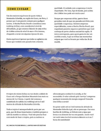 Prévia Revista Machu Picchu Brasil - Montanha Colorida Peru