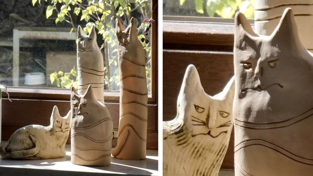 Grimmige Katzen - Keramik