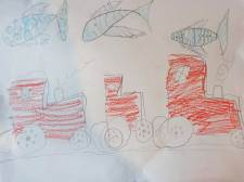 Mitbringsel für Svea: Weil sie Traktoren so liebt
