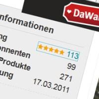 Bewertungen aus DaWanda