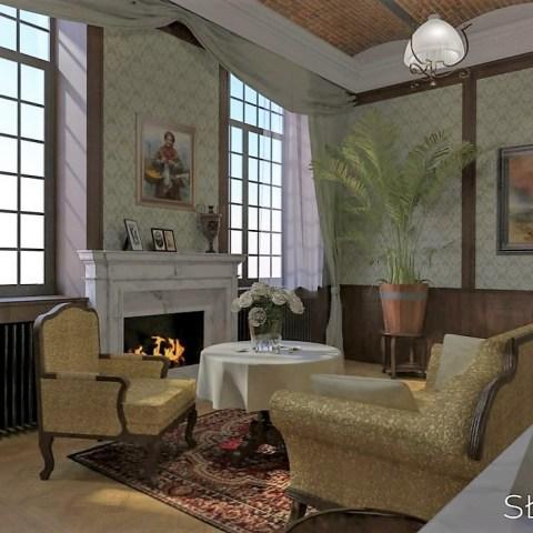 XIX wieczne wnętrze – salon