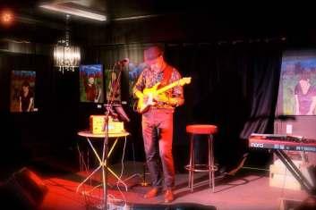 Maciek at Nivara Lounge 10-Apr-15, Strat and Kemper Profiling Amp