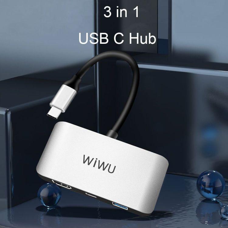 WiWU Alpha C2H 3 in 1 USB C to HDMI USB Hub Adapter 4