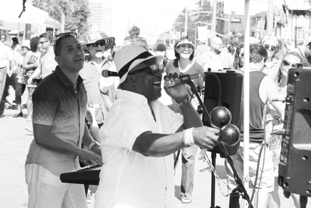Salsa Singer, Salsa on St Clair, Dance, Street Party, Street performer