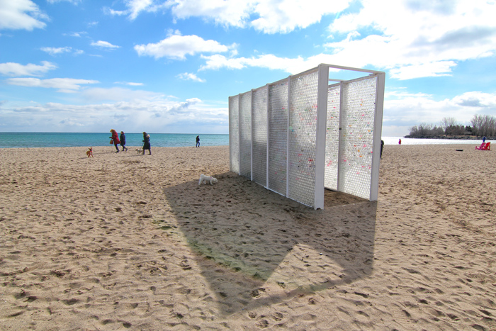 Collective Memory, Winter Stations, The Beaches, Toronto, art, beach, bottles, messages, neighbourhood