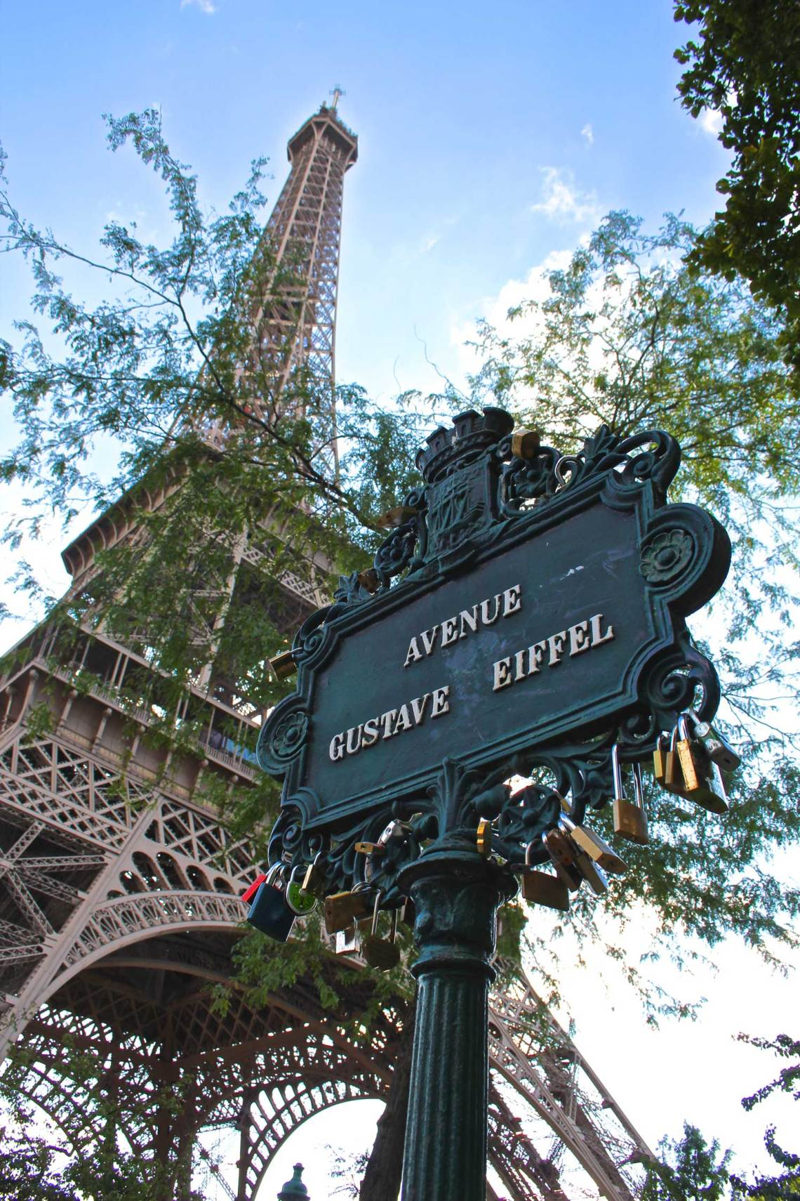 Avenue Gustave Eiffel, sign, Eiffel Tower, Paris, France