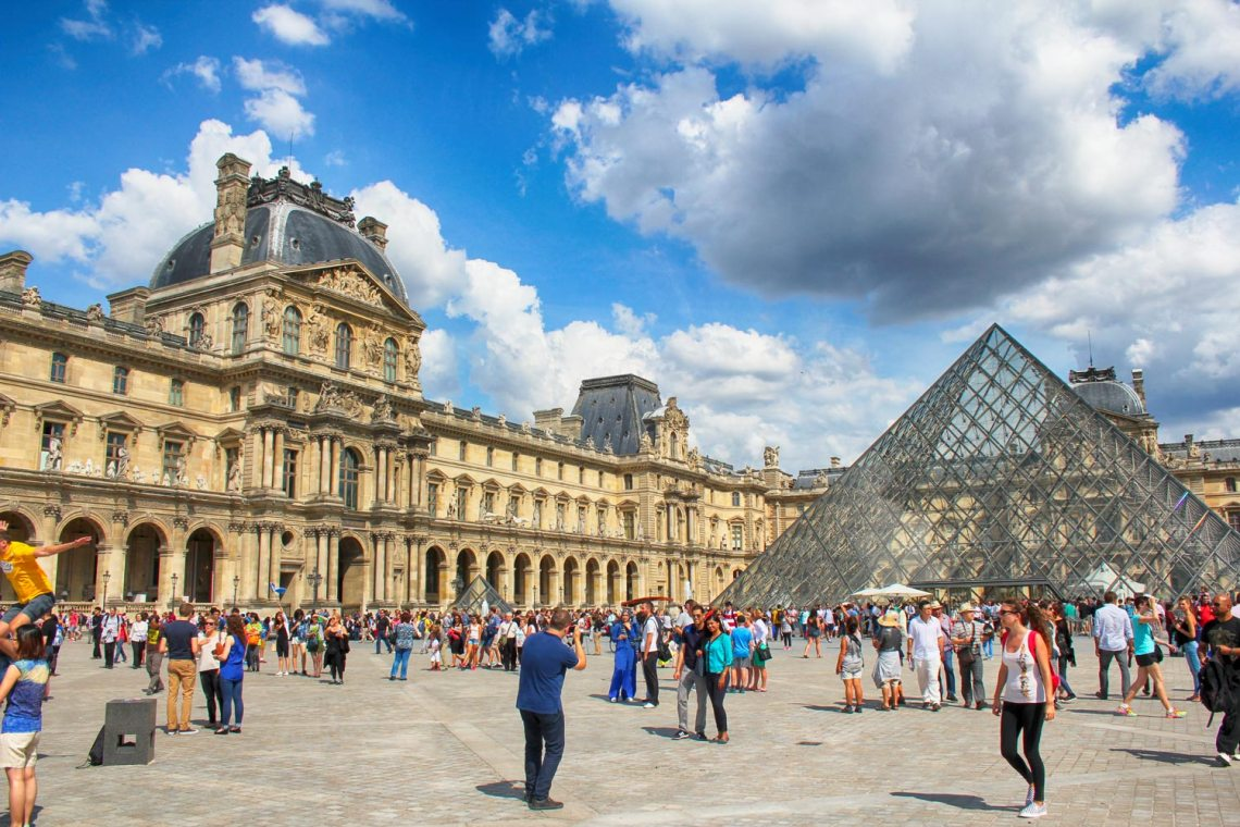Summer, Louvre, Paris, France