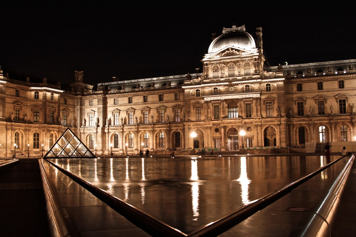 Paris, Louvre, Museum, Art, Long Exposure, Night, Photography