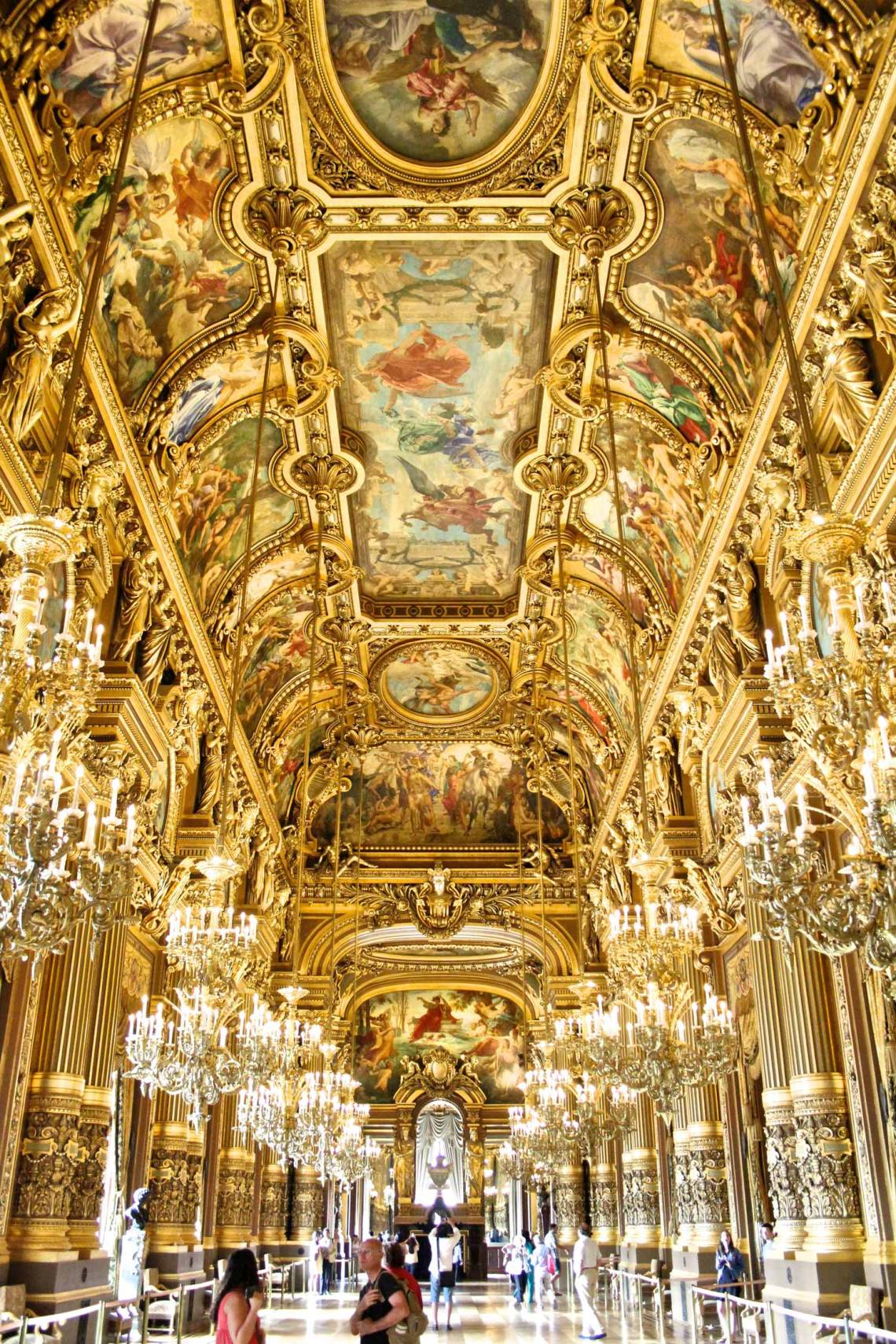 Palais Garnier, Great Hall, Gold Room, Paris, France, Tourism