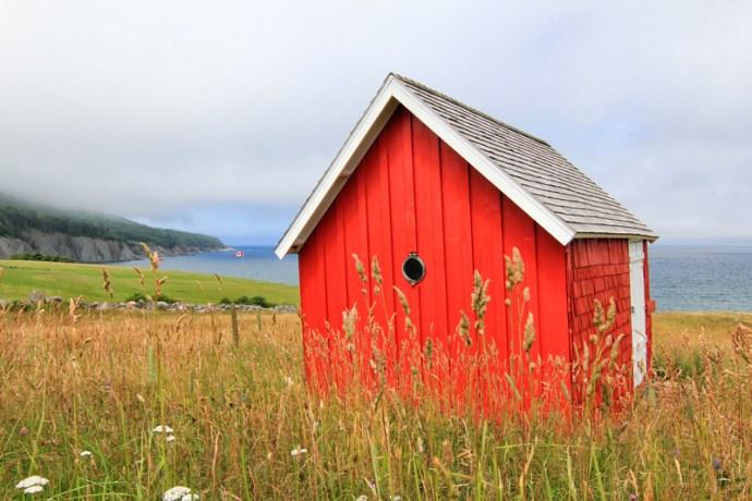 Red cabin, Cabot Trail, East Coast, Canada, Cape Breton