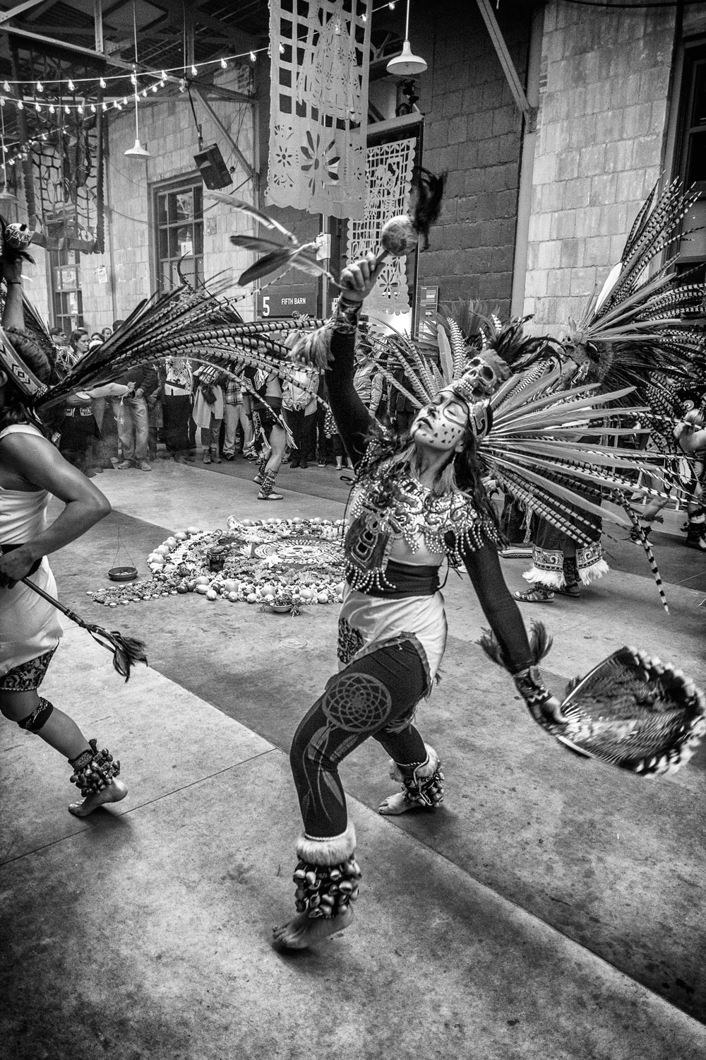 Dance, Day of the Dead, Wychwood, Barns, Toronto, Halloween, Black and White