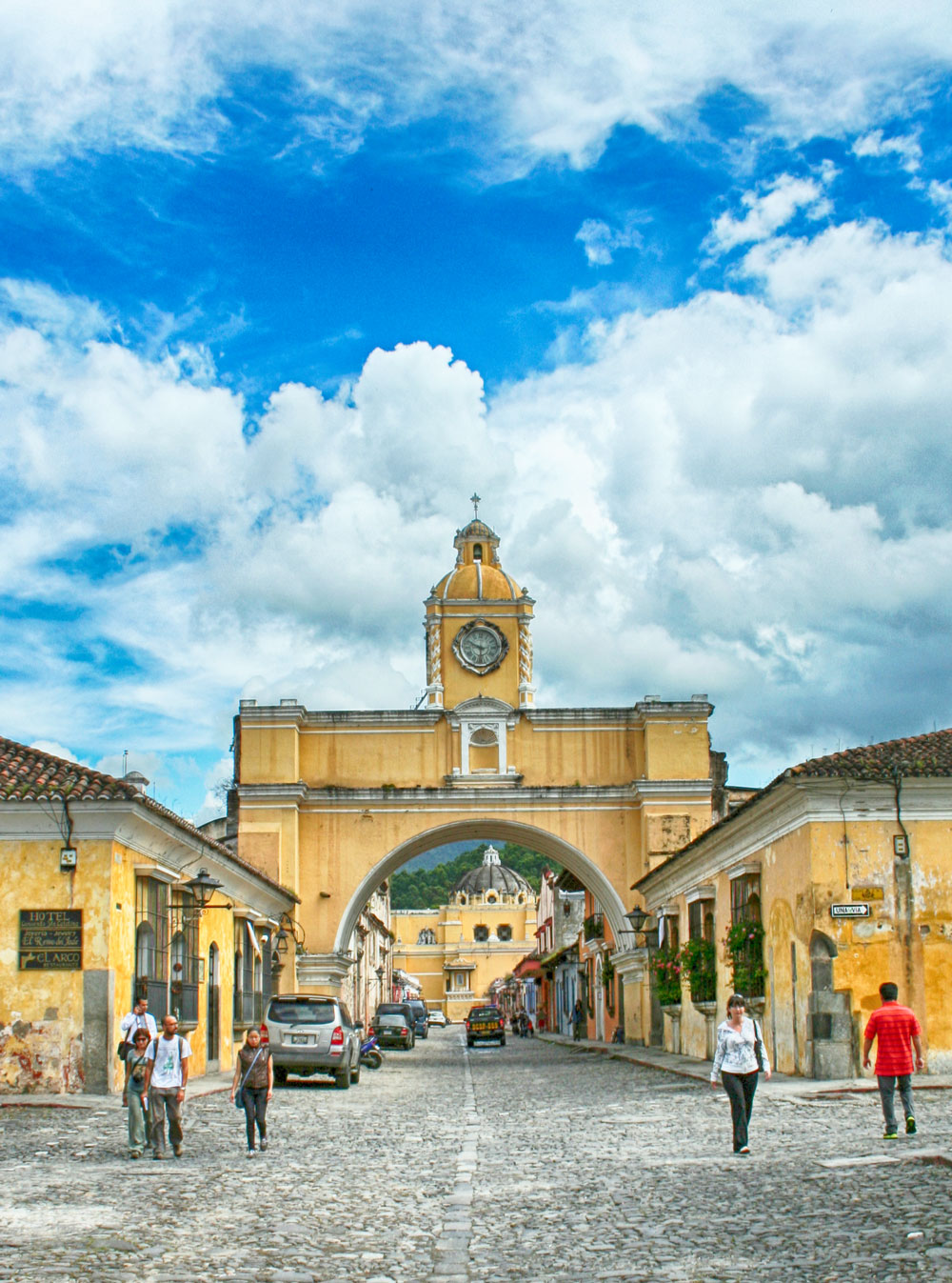 Santa Catalina Arch, Antigua, Guatemala, Rising