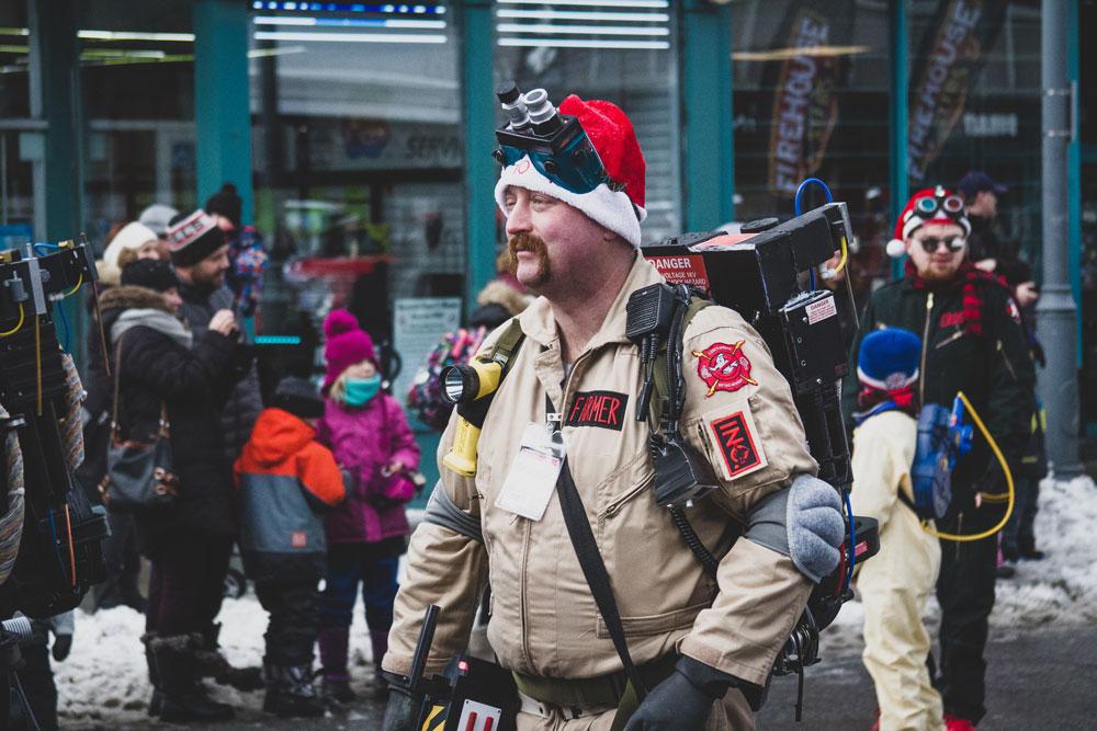 Ghostbuster, Santa, Parade