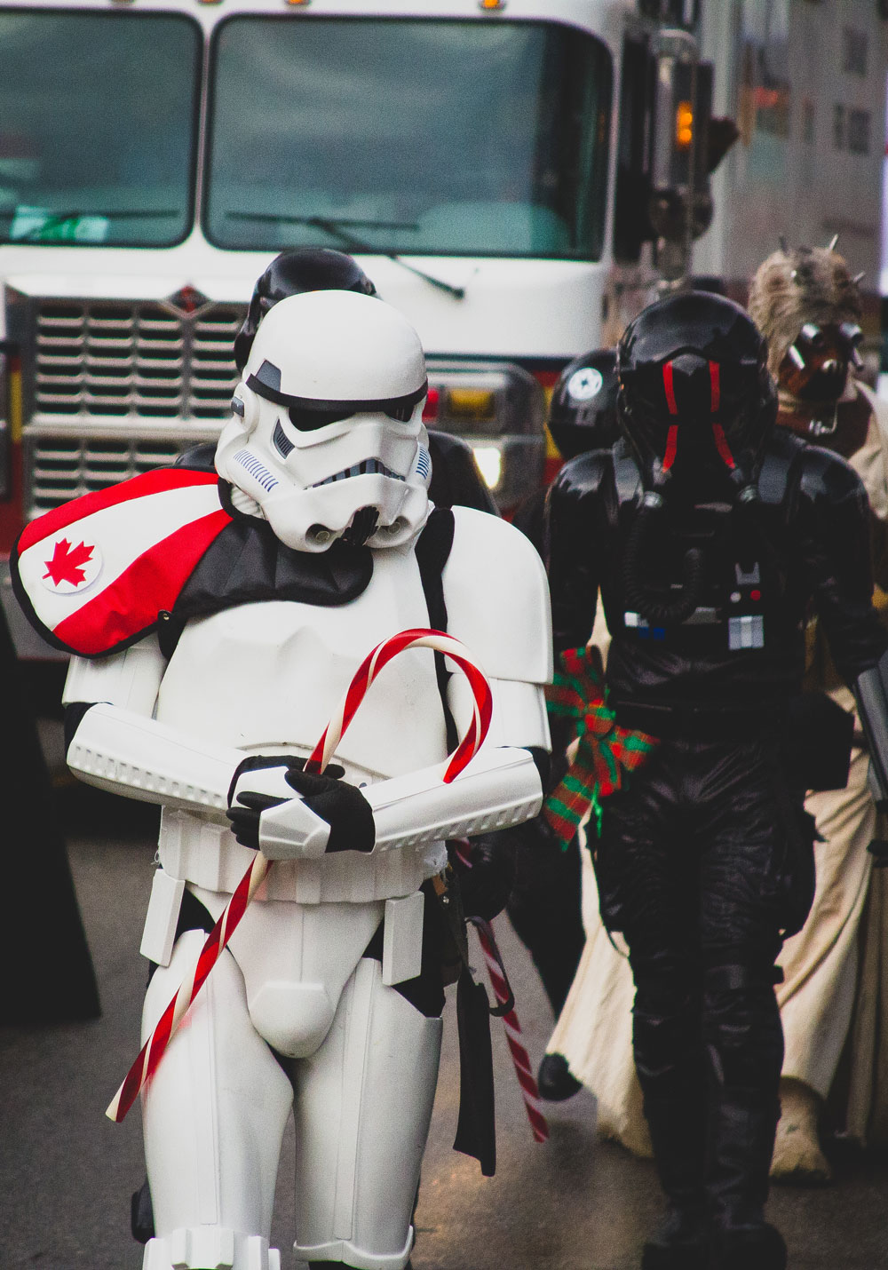Stormtrooper, Santa Clause, Parade, Christmas