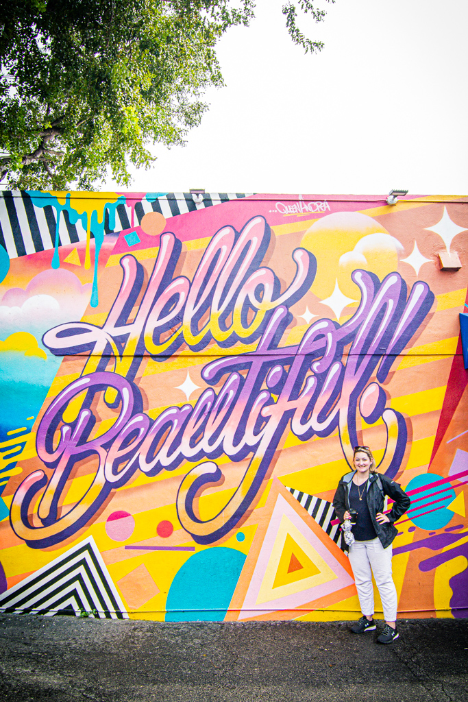 Hello Beautiful graffiti in Wynwood Walls