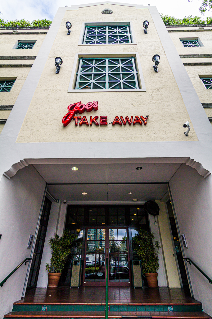 Exterior of Joe's Take Away in Miami