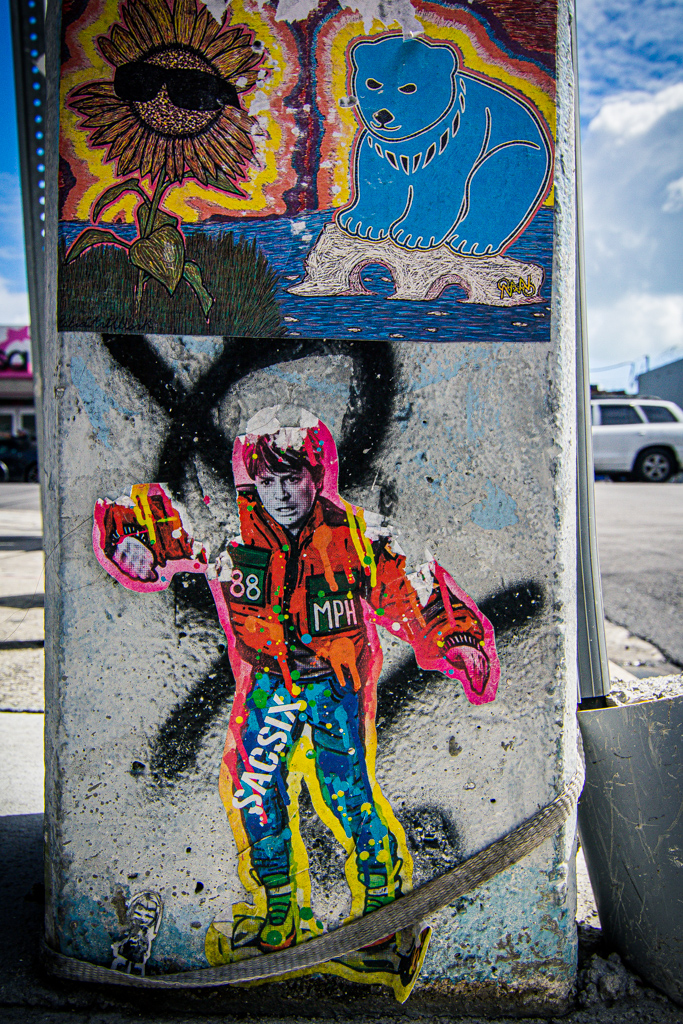 Marty McFly sticker in Miami
