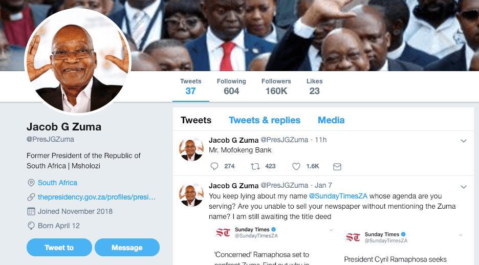Jacob Zuma Twitter