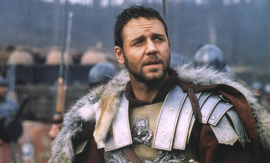 Russell Crowe as Maximus in Gladiator (2000)