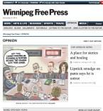 Winnipeg Free Press tearsheet, November 5, 2014