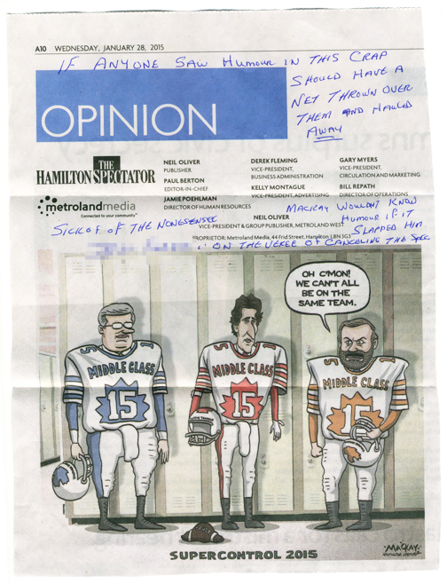 By Graeme MacKay, The Hamilton Spectator - January 28, 2015 feedback