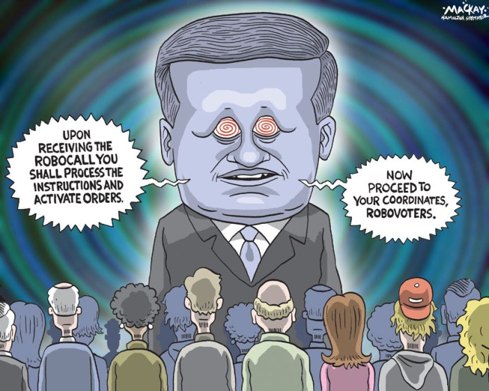 By Graeme MacKay, The Hamilton Spectator, Monday March 5, 2012 If robo-calls were meant to keep voters away, they failed miserably Tales of voter suppression in the last federal election have emerged across the country. But while ridings alleged to have been targeted byÊthese tactics were won by smaller margins than those not implicated, an analysis of these ridings indicates voter turnout was higher, notÊlower, than elsewhere in Canada. n almost 70 ridings from every region of the country, allegations have been made that voters were falsely directed to polling stations byÊÒrobo-callsÓ or were harassed at all hours of the night by rude live callers posing as representatives of the Liberal Party. The oppositionÊparties have blamed the Conservatives for these calls, and indeed Elections Canada has found some indication of a link between callsÊmade in the Ontario riding of Guelph and the local Tory campaign there. But an analysis of these ridings shows turnout averaged 61.6 per cent, slightly higher than the 60.9 per cent average turnout in ridingsÊwhere no allegations of impropriety have been reported. If we only focus on the ridings in which allegations of misleading robo-calls haveÊbeen made, the turnout averaged 62 per cent. Compared to 2008, turnout increased by 4.7 per cent in these ridings. It increased by only 3.9 per cent in ridings that have not beenÊimplicated in the scandal. Turnout in neighbouring untainted ridings does not seem to have been significantly different. If these allegationsÊof voter suppression tactics are indeed true, they do not appear to have been very successful. Nevertheless, there is a clear difference between ridings in which misleading or harassing phone calls are alleged to have been made andÊridings in which there have been no allegations of under-handed tactics. (Source: Globe & Mail) http://www.theglobeandmail.com/news/politics/if-robo-calls-were-meant-to-keep-voters-away-they-failed-miserably/article2358726/?utm_medium=Feeds