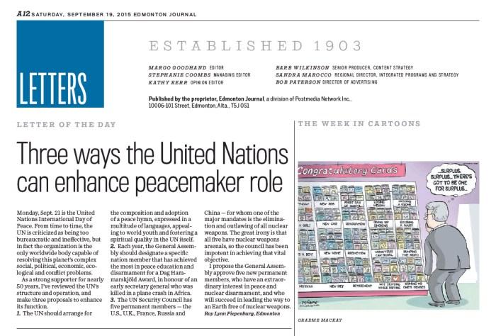 Edmonton Journal, September 19, 2015