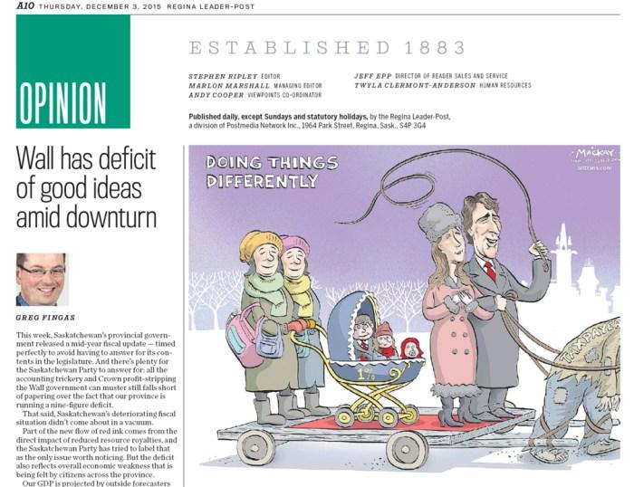 Regina Leader-Post, December 3, 2015