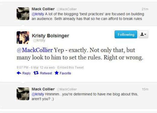Seth Godin, blogging, marketing