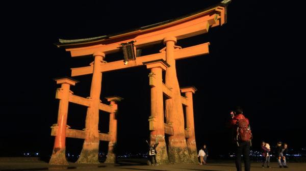 【厳島神社】安芸の宮島、シカがいるんだね、夜の部【神社めぐり】日本三景、フェリーで行ってみた
