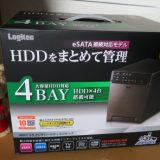 【HDD】4連HDDケースに4台 組み込んでみた、簡単だった(∩´∀`)∩ LOGITEC LGB-4BNHEU3
