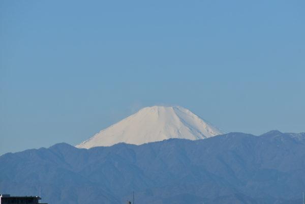 寒い日は富士山が綺麗に見える