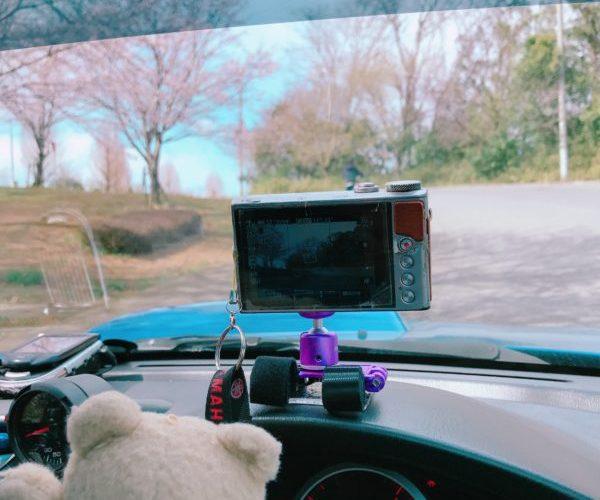 格安・自作【クルマにカメラを固定】100円の耐震マットと自転車用マウントで固定。Fixing camera to the car with a seismic seat and a bike mount