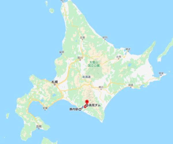 【ハイドラ難所】高見ダム、北海道、クルマで行けずチャリで20kmだが・北海道・2014年10月ver