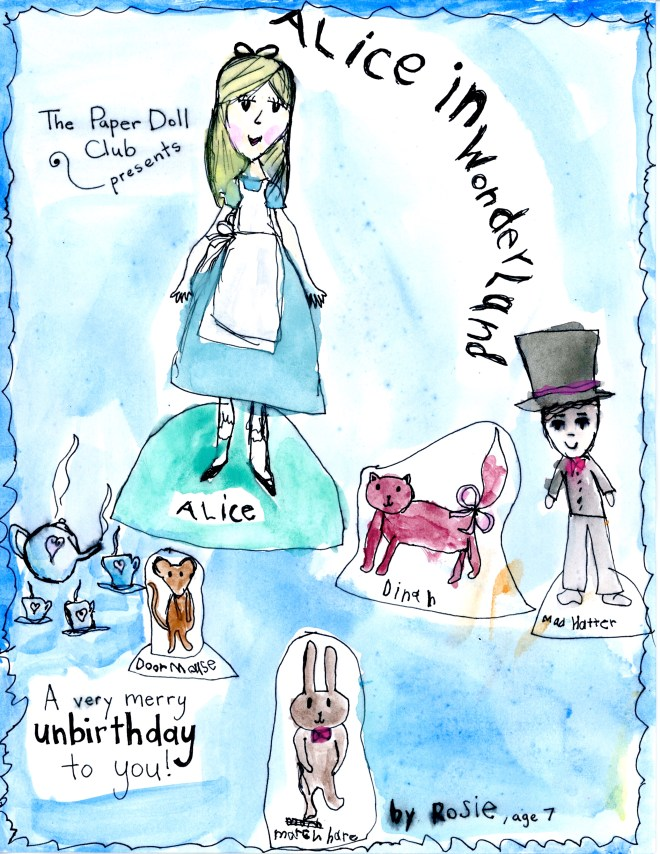 Alice Painted Paper Doll