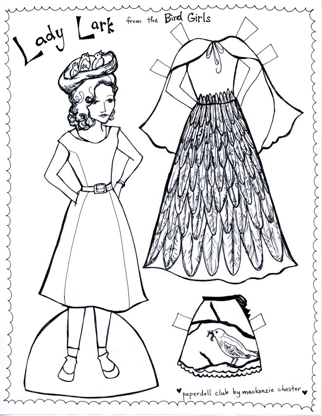 Created by Mackenzie Chester for The Paper Doll Club.  Free printable paper dolls for you!