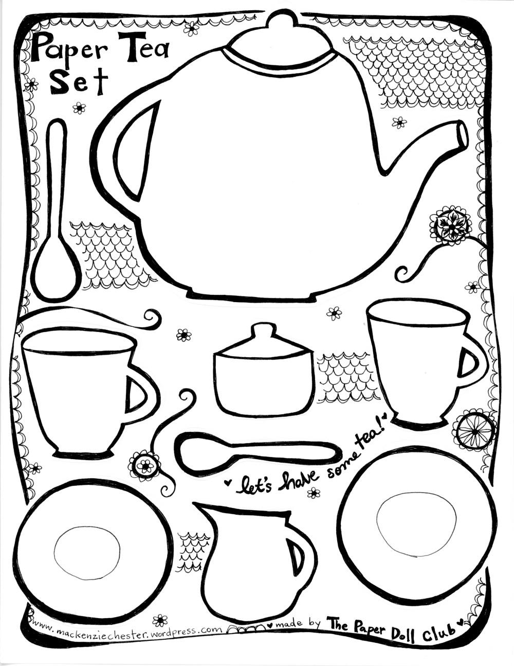 Paper Tea Party Set