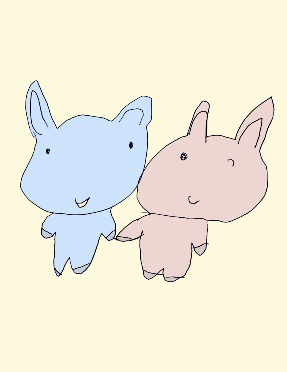 Bunny Friends Colored