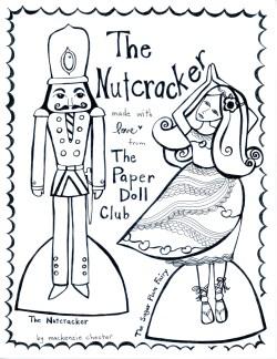Nutcracker paper doll club by Mackenzie Chester