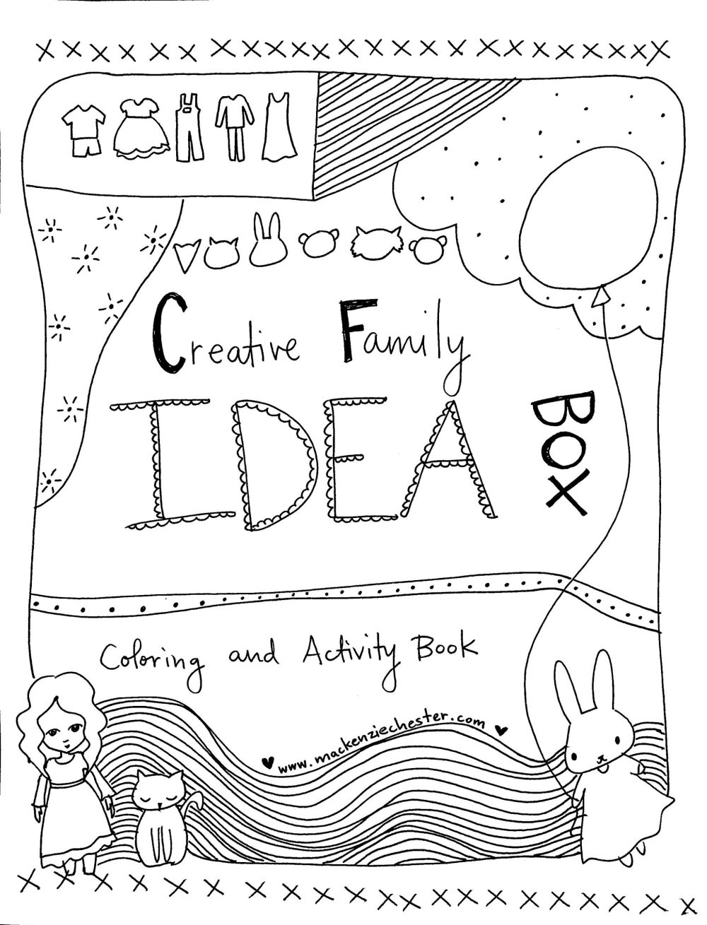 Creative Family Coloring and Activity Book